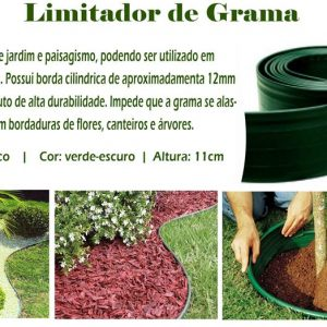 Limitador De Grama-Mini Borda 50 Mts.